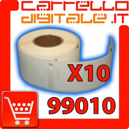 Etichette Compatibili con Dymo 99010 Bixolon Seiko 10 Rotoli