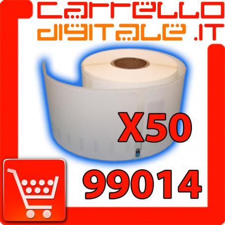 Etichette Compatibili con Dymo 99014 Bixolon Seiko 50 Rotoli