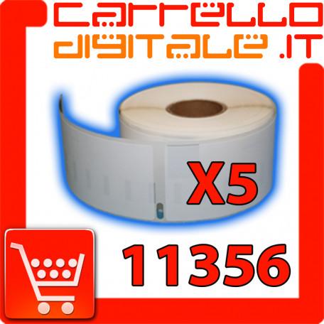 Etichette Compatibili con Dymo 11356 Bixolon Seiko 5 Rotoli