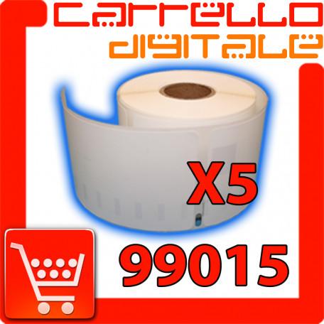 Etichette Compatibili con Dymo 99015 Bixolon Seiko 5 Rotoli