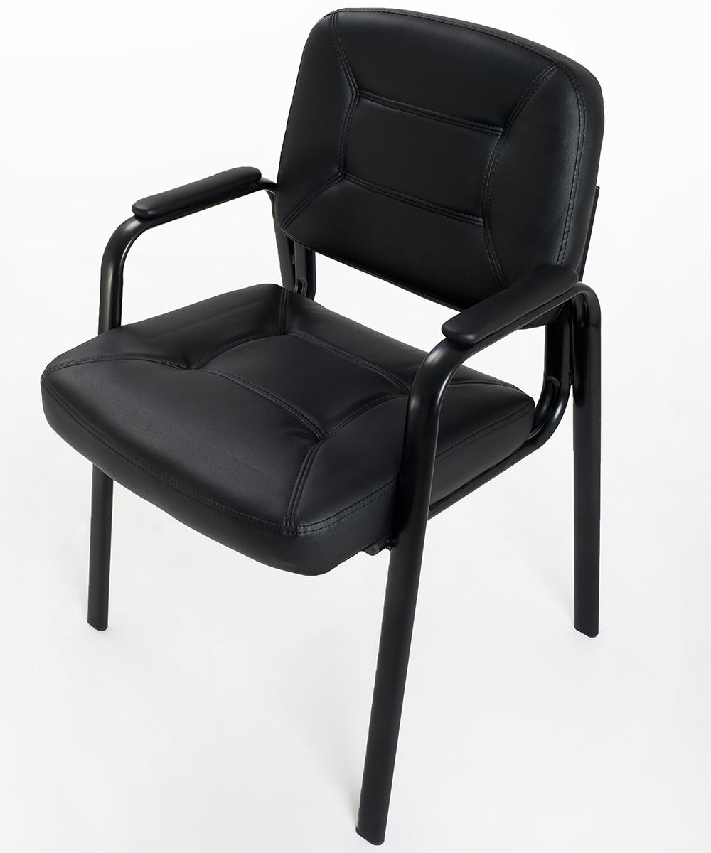 4 sedie per ufficio ospite in eco pelle carrello digitale for Sedie ufficio design