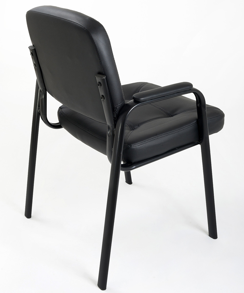 4 sedie per ufficio ospite in eco pelle carrello digitale - Sedie e poltrone ufficio ...