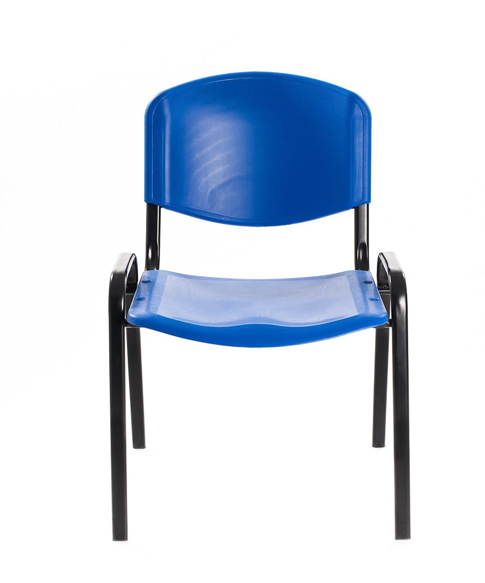 Sedie sala d'aspetto in plastica blu | Carrello Digitale