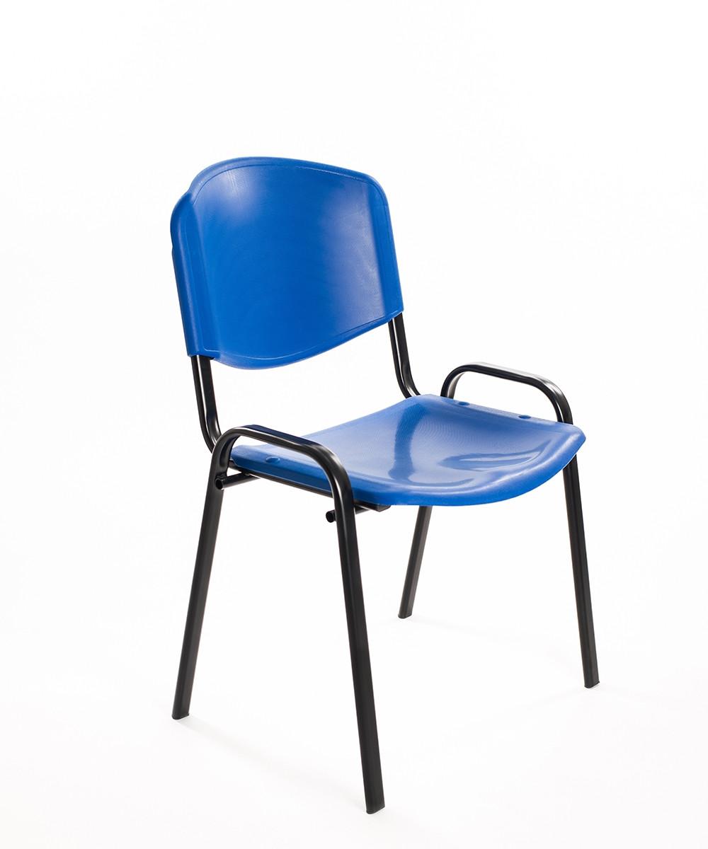 Sedie sala d'aspetto in plastica blu   Carrello Digitale