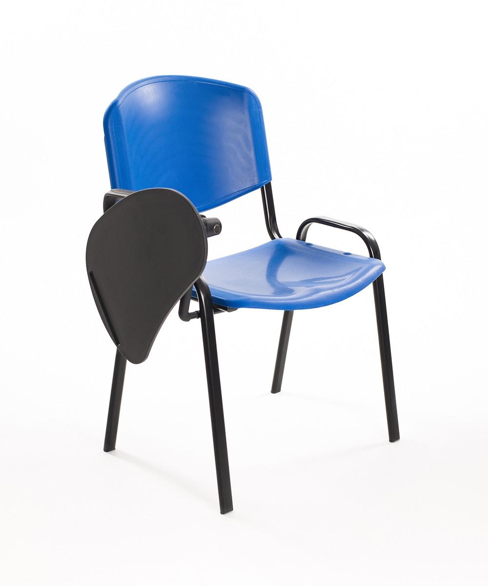 Sedie Convegni con ribaltina in plastica blu | Carrello ...