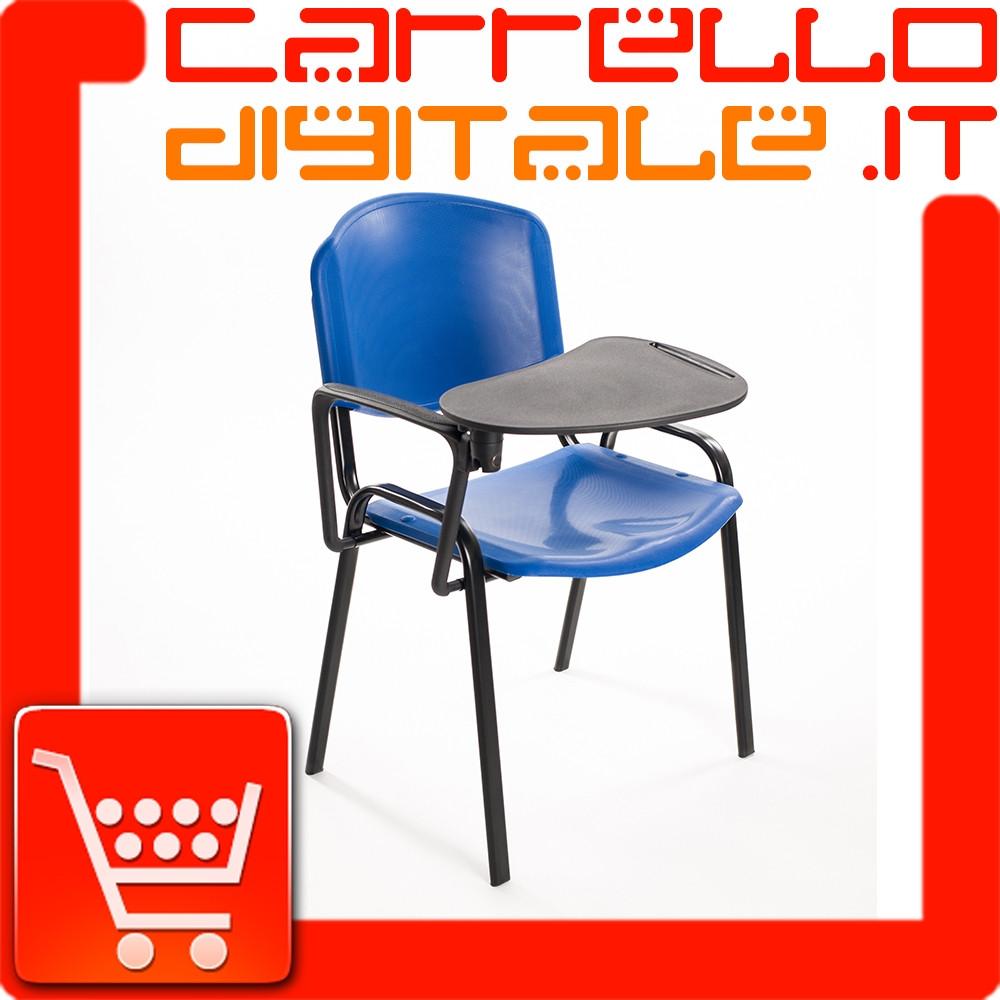 Sedie Di Plastica Impilabili.Sedie Convegni Con Ribaltina In Plastica Blu Carrello Digitale