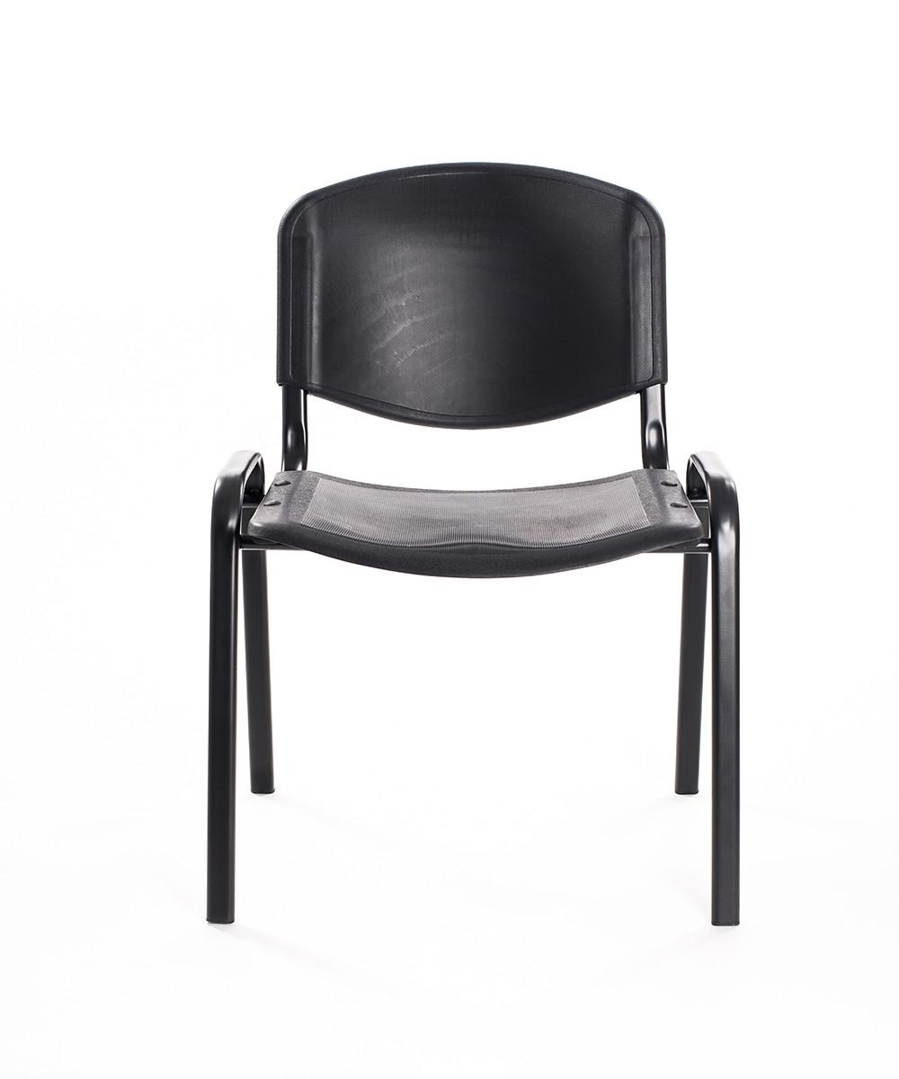 Sedie Da Ufficio Plastica.Set 6 Sedie Attesa In Plastica Nera Carrello Digitale