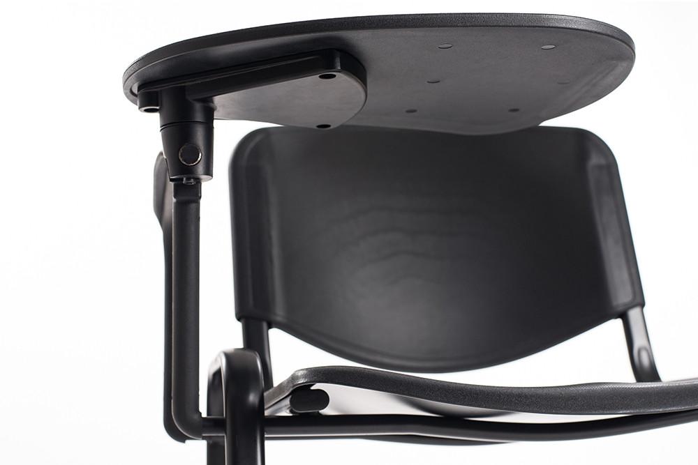 Sedie ufficio con tavoletta in plastica nera   Carrello ...