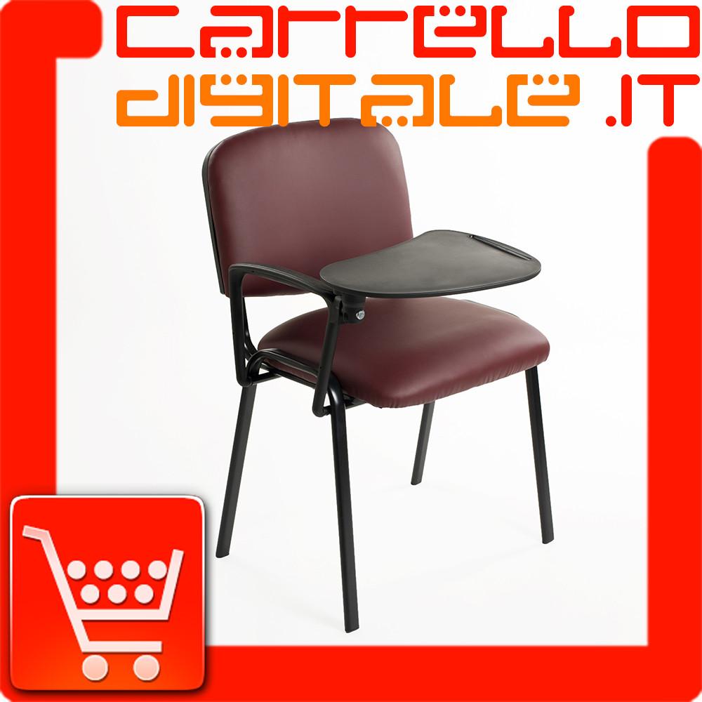 Sedia Per Sala Conferenza Con Ribaltina Tavoletta Carrello Digitale