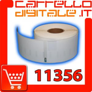 Etichette Compatibili con Dymo 11356 Bixolon Seiko 1 Rotolo