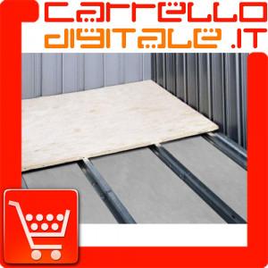 Kit Base/Pavimento per Box in Acciaio Zincato 3.07 x 1.0 m. - NTK0063/V/W