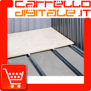 Kit Base/Pavimento per Box in Acciaio Zincato 1.55 x 1 m. - NTK0065/V/W