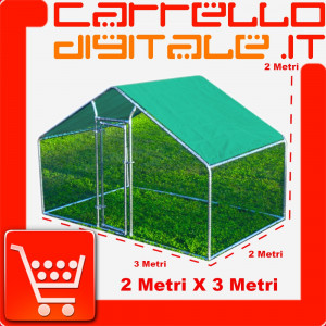 Gabbia per animali da esterno - Recinto per Polli 3 x 2m x 2m H  - 6 mq  - 50Kg