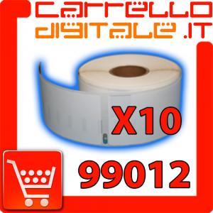 Etichette Compatibili con Dymo 99012 Bixolon Seiko 10 Rotoli