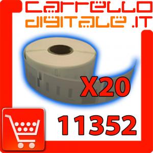 Etichette Compatibili con Dymo 11352 Bixolon Seiko 20 Rotoli