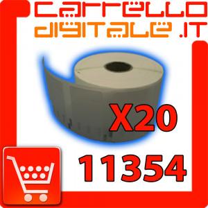 Etichette Compatibili con Dymo 11354 Bixolon Seiko 20 Rotoli