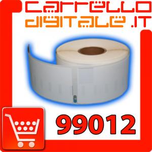 Etichette Compatibili con Dymo 99012 Bixolon Seiko 1 Rotolo