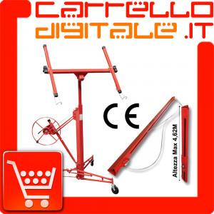 Carrello Alzalastre per Cartongesso, Alza Lastre Solleva Pannelli + Estensione - Prolunga