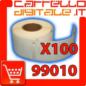 Etichette Compatibili con Dymo 99010 Bixolon Seiko 100 Rotoli