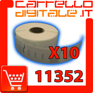 Etichette Compatibili con Dymo 11352 Bixolon Seiko 10 Rotoli