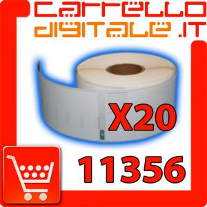 Etichette Compatibili con Dymo 11356 Bixolon Seiko 20 Rotoli