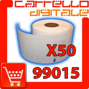 Etichette Compatibili con Dymo 99015 Bixolon Seiko 50 Rotoli
