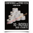 Etichette Compatibili con Dymo 11356 Bixolon Seiko 10 Rotoli