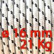 Corda Nautica Diametro 16mm Bobina da 21 Kg