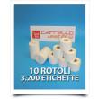 Etichette Compatibili con Dymo 99015 Bixolon Seiko 10 Rotoli