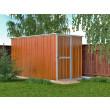 Box in Acciaio Zincato 1.75 x 3.07 m x h1.82 m - 95 KG - 5,4 metri quadri - LEGNO