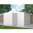 Box in Acciaio Zincato Casetta da Giardino Esterna 4.03 x 2.69 m x h2.17 m - 149 KG – 10.84 metri quadri - BIANCO