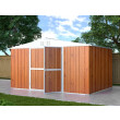 Box in Acciaio Zincato Casetta da Giardino Esterna  4.03 x 2.69 m x h2.17 m - 149 KG – 10.84 metri quadri - LEGNO