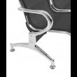 Panca per sala d'attesa, ufficio, studio, a 3 posti in acciaio - Colore NERO