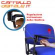 Sedia  Impilabile in Plastica BLU - con Ribaltina Conferenze