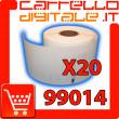 Etichette Compatibili con Dymo 99014 Bixolon Seiko 20 Rotoli