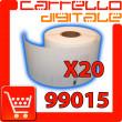 Etichette Compatibili con Dymo 99015 Bixolon Seiko 20 Rotoli