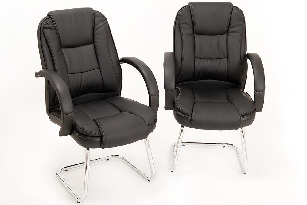 Sedie Ufficio Comode : Coppia di poltrona ufficio sedia attesa in eco pelle per ospite