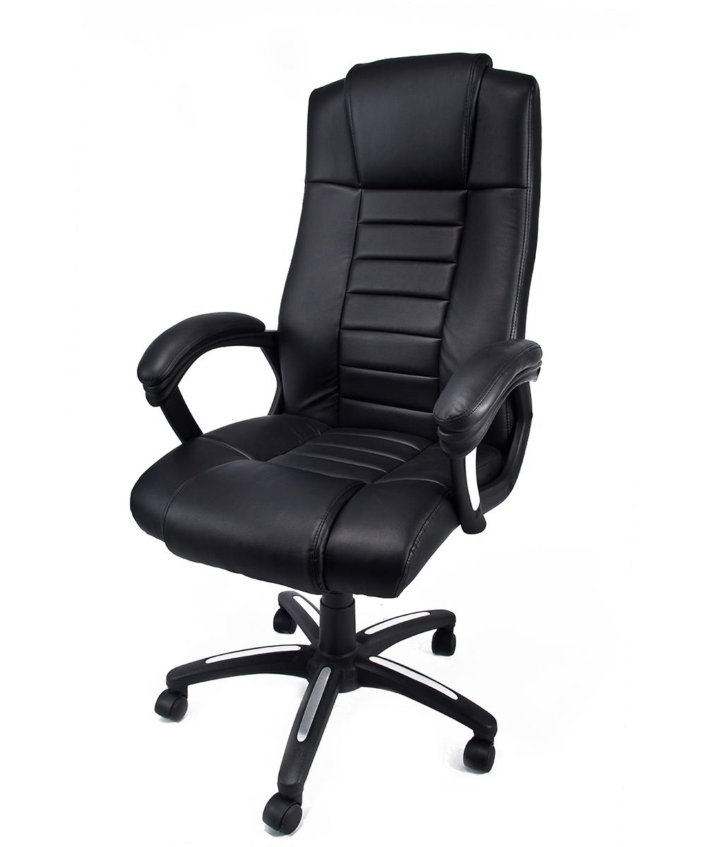 Poltrona in eco pelle nera da ufficio presidenziale for Sedute da ufficio