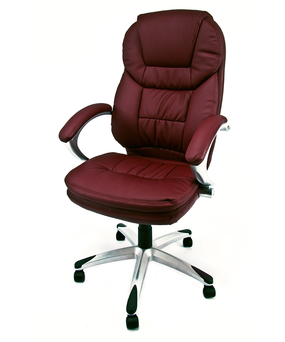 Poltrona ufficio sedia girevole in eco pelle presidenziale for Sedie girevoli