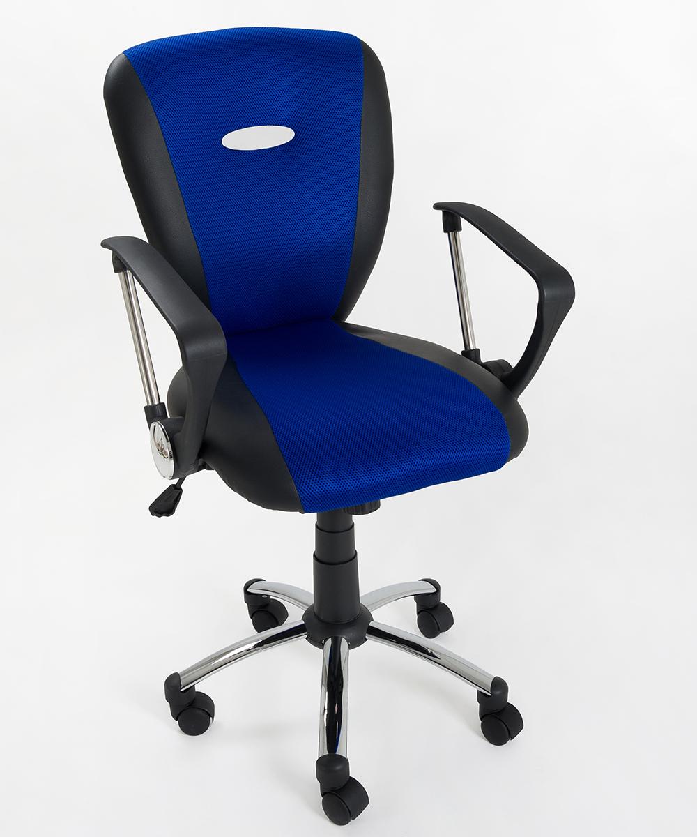 Sedia poltrona direzionale operativa in mesh nero blu for Ufficio blu