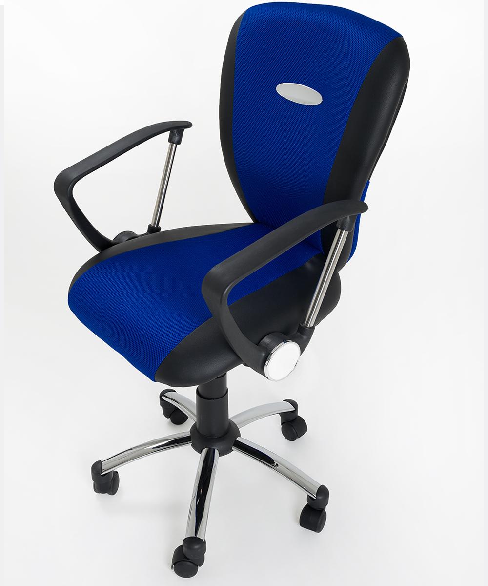 Sedia poltrona direzionale operativa in mesh nero blu for Attrezzi per ufficio
