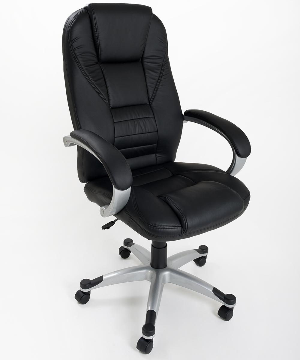 Poltrona in eco pelle nera da ufficio presidenziale - Ikea sedie per ufficio ...
