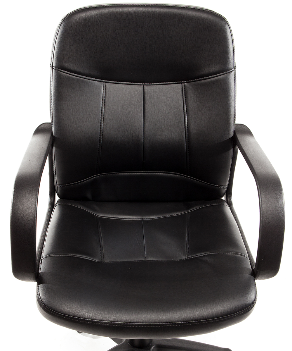 Sedia Direzionale Ecopelle Nera Virginia : Poltrona ufficio in eco pelle nera sedia operativa