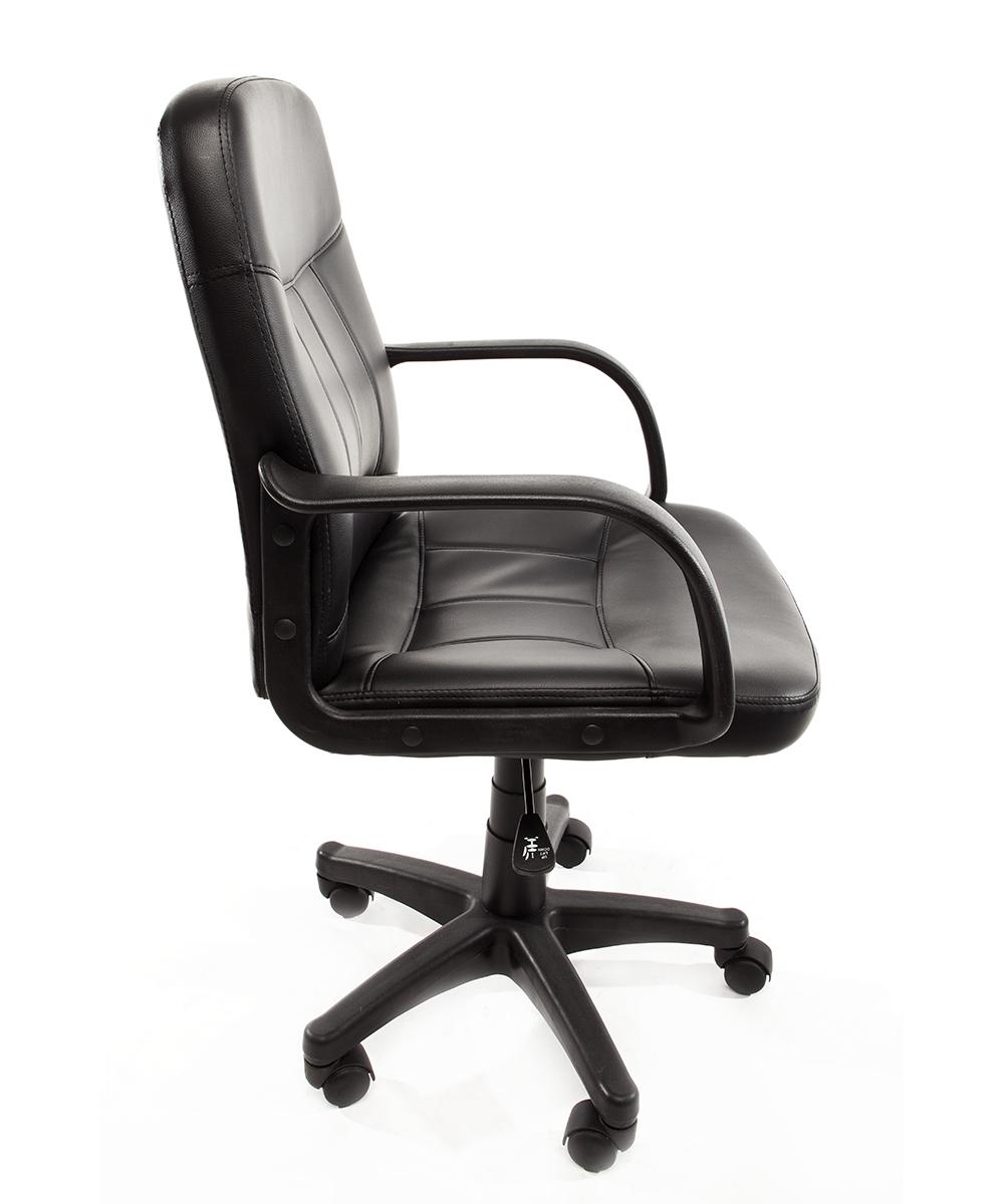 Poltrona ufficio in eco pelle nera sedia operativa for Sedia poltrona ufficio