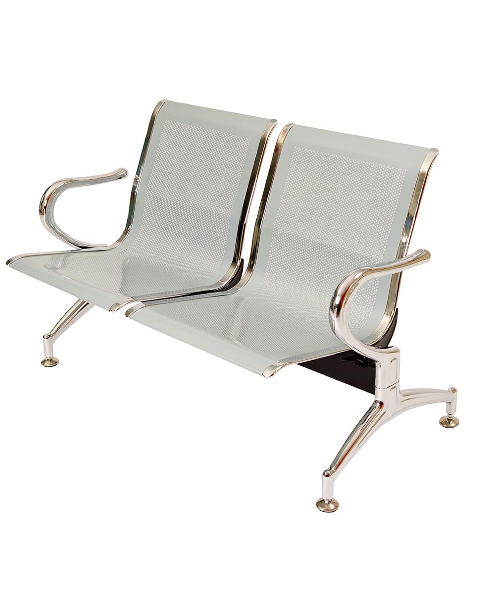 Panca a 2 posti sedie sala d 39 attesa in acciaio ospite for Attrezzi per ufficio