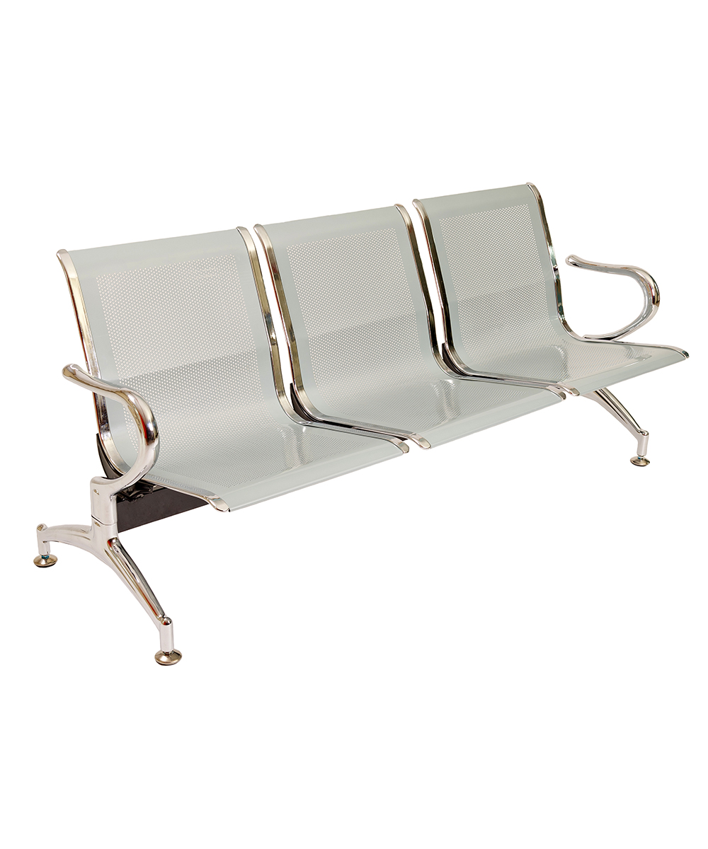 Panca a 3 posti sedie sala d 39 attesa in acciaio ospite for Attrezzi per ufficio