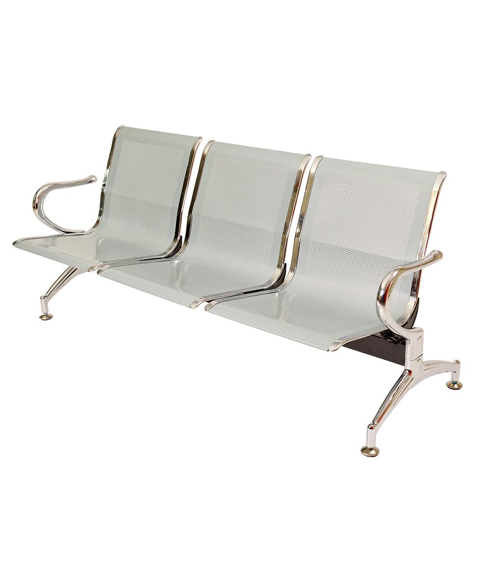 Panca a 3 posti sedie sala d 39 attesa in acciaio ospite for Poltrone da studio