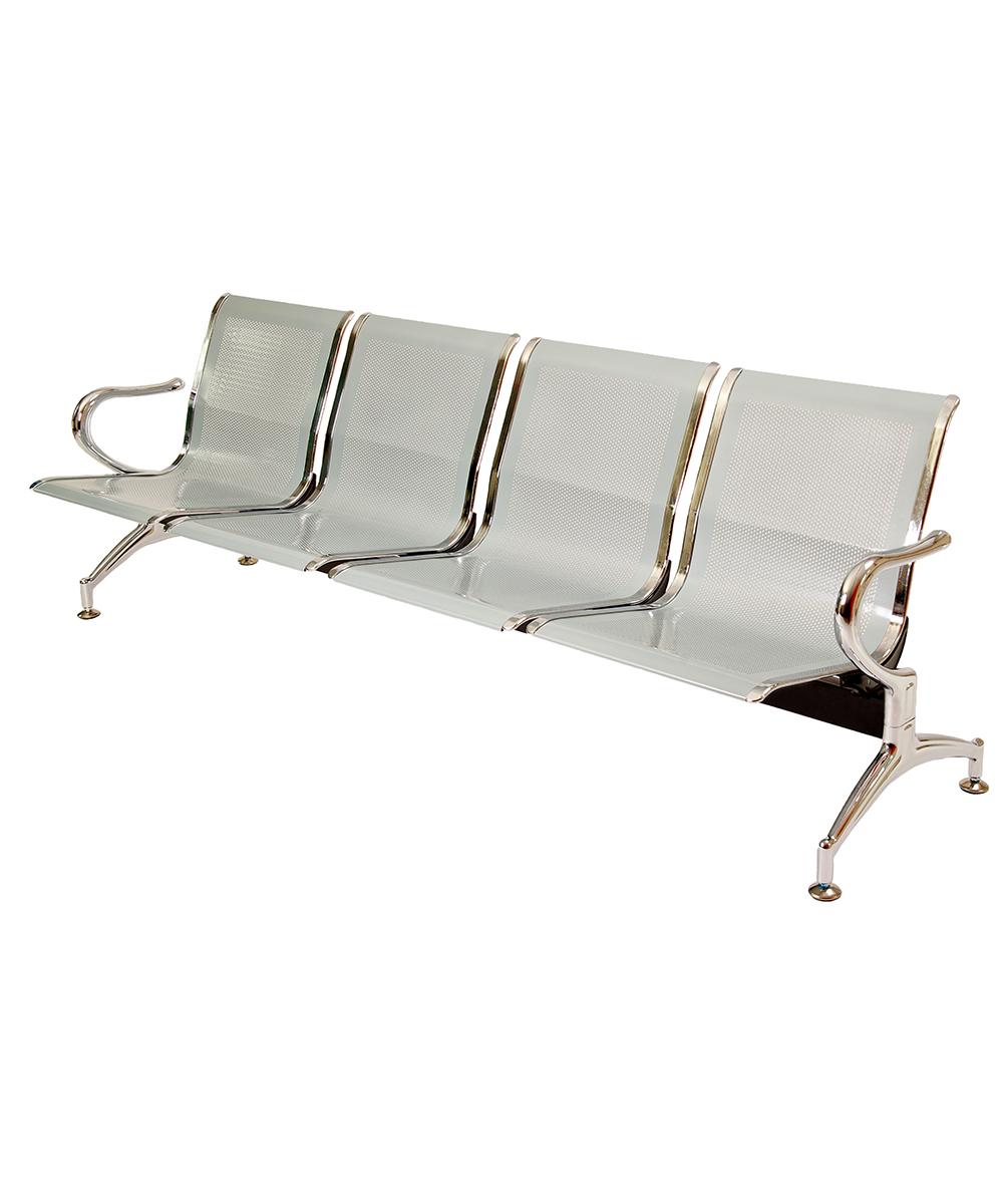 Panca a 4 posti sedie sala d 39 attesa in acciaio ospite for Poltrone da studio