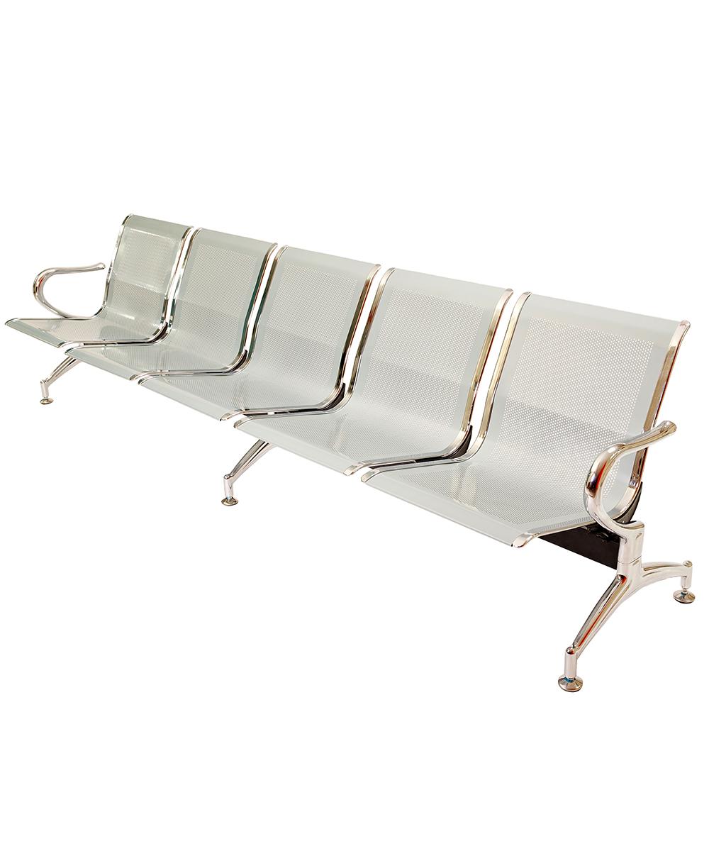 Panca a 5 posti sedie sala d 39 attesa in acciaio ospite for Poltrone da studio